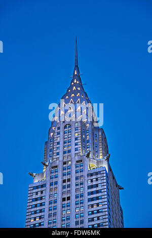 NEW YORK, USA - August 19 ,2015: Chrysler building in New York, was the world's tallest building before the Empire - Stock Photo