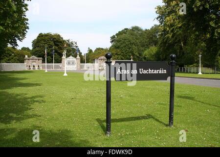 Áras an Uachtaráin in Phoenix Park Dublin Ireland. - Stock Photo