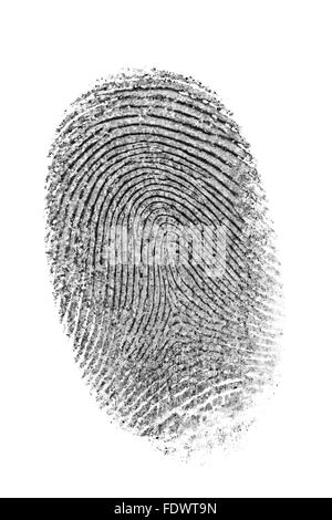 Finger print isolated on the white background. - Stock Photo