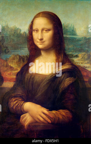 Mona Lisa by Leonardo da Vinci - Stock Photo