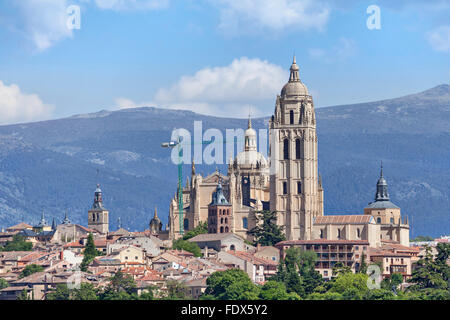 Catedral de Santa Maria de Segovia in the historic city of Segovia, Castilla y Leon, Spain - Stock Photo