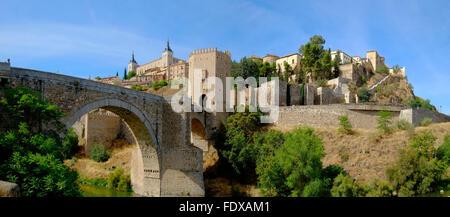 Alcantara Bridge Toledo Spain ES Tagus River - Stock Photo