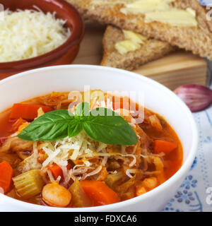 Homemade Minestrone Soup - Stock Photo