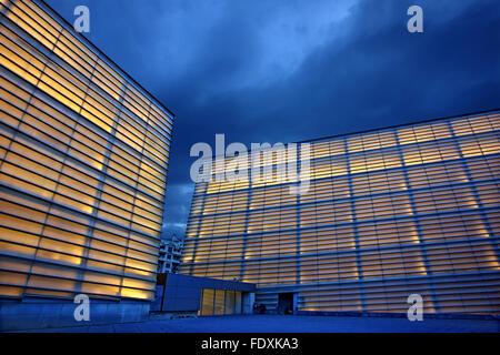 The Kursaal, cultural and congress center, in San Sebastian (Donostia), Basque Country, Spain. - Stock Photo