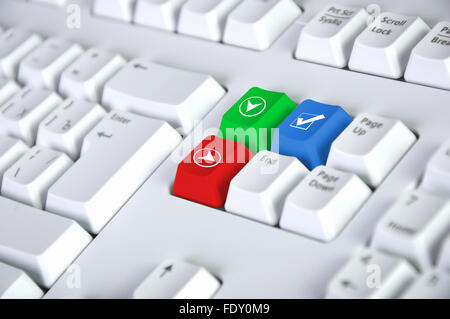 Computer Keyboard With Checkmark Symbol On It Stock Photo 94635648