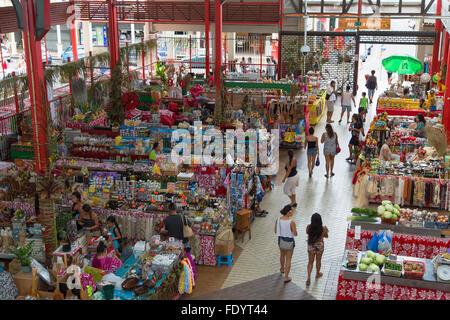 Marche de Pape'ete (Pape'ete Market), Pape'ete, Tahiti, French Polynesia - Stock Photo
