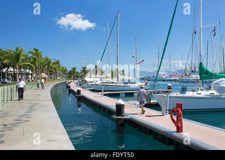 Yachts in harbour, Pape'ete, Tahiti, French Polynesia - Stock Photo
