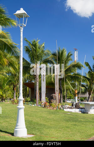 Memorial to nuclear testing in Jardins de Paofai, Pape'ete, Tahiti, French Polynesia - Stock Photo