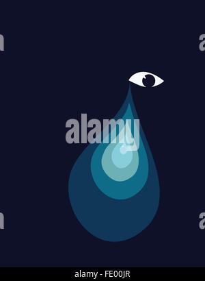 Large teardrop - Stock Photo