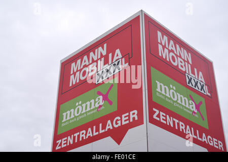 Mann Mobilia mann mobilia xxxl can be seen on one of the furniture stores of