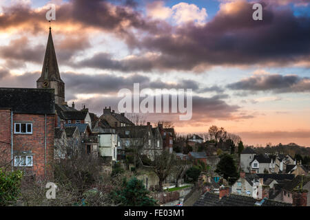Malmesbury, Wiltshire, UK. 03rd Feb, 2016. After a cold night the clouds gather over the Wiltshire hillside town - Stock Photo