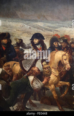 Napoleon on the Battlefield of Eylau, (9 February 1807), 1808 by Baron Antoine-Jean Gros (1771-1835). Louvre Museum. - Stock Photo