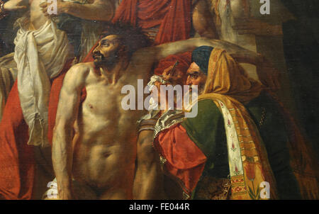 Bonaparte visiting the Plague Victims of Jaffa, 1804. (Egyptian Campaign). By Antoine-Jean Gros (1771-1835). Detail - Stock Photo