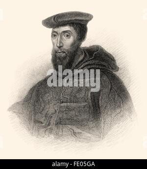 Reginald Pole, 1500-1558, an English cardinal of the Roman Catholic Church, Archbishop of Canterbury - Stock Photo
