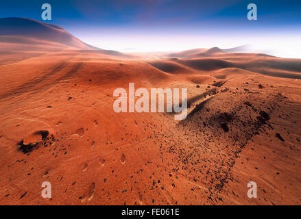 Red surface of planet Mars - Stock Photo