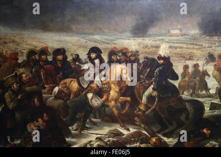 Napoleon on the Battlefield of Eylau, (9 February 1807), 1808 by Baron Antoine-Jean Gros (1771-1835). Louve Museum. - Stock Photo