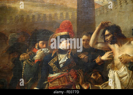 Bonaparte visiting the Plague Victims of Jaffa, 1804. (During Egyptian Campaign). By Antoine-Jean Gros (1771-1835). - Stock Photo