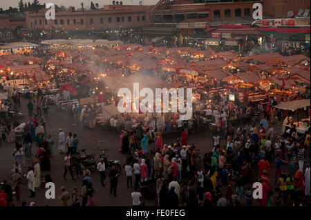 Djemaa el-Fna, Marrakesh, Morocco - Stock Photo