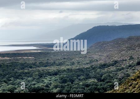 Great Rift Valley wall, Lake Manyara - Stock Photo