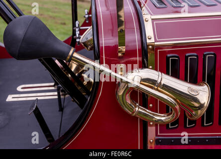Detail of Stanley Steamer Vintage motor car - Stock Photo