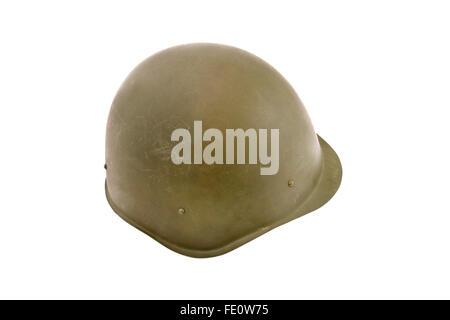 Russian (USSR) battle helmet. (SSH-40)(1926). Soviet standard battle helmet before the World Two. Russia - Stock Photo