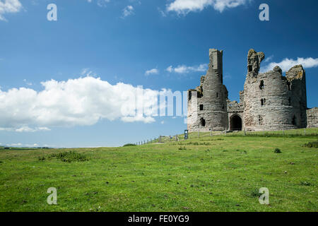 Dunstanburgh Castle, England, United Kingdom - Stock Photo