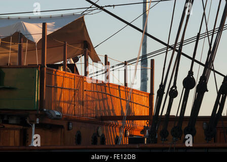 Quarterdeck of RRS Discovery, Discovery Point, Dundee, Scotland, UK. - Stock Photo