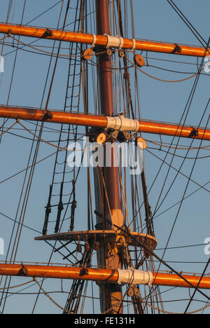 Foremast joint on RRS Discovery, Discovery Point, Dundee, Scotland, UK. - Stock Photo