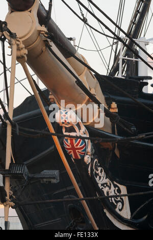 Prow of RRS Discovery, Discovery Point, Dundee, Scotland, UK. - Stock Photo