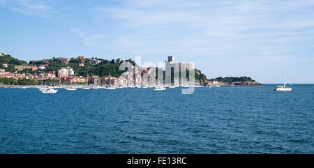 Lerici. The gulf of Poets. Liguria, Italy - Stock Photo