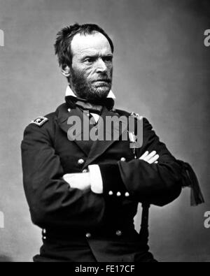Gen. William T. Sherman, ca. 1864-65.  Mathew Brady Collection. (Army) Exact Date Shot Unknown - Stock Photo