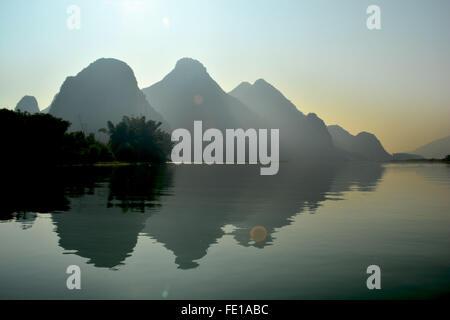 Li River cruise - Stock Photo