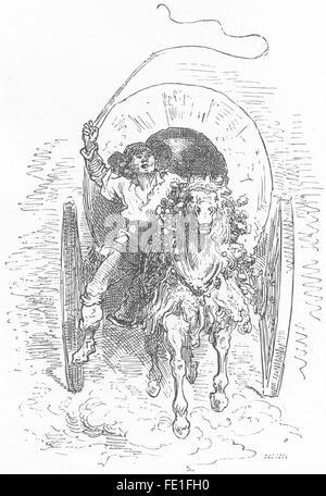 SPAIN: A Tartanero, antique print 1881 - Stock Photo