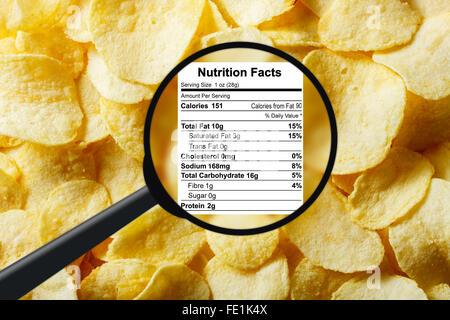 Junk food concept - potato chips - Stock Photo