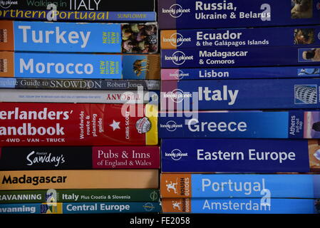 Travel guides or books - Stock Photo