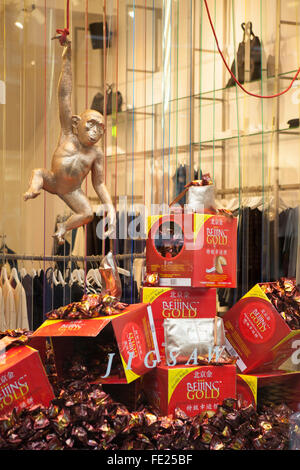 Manchester, UK. 4th Feb 2016. Chinese New Year in Manchester celebrates the year of the monkey. Credit:  Cernan - Stock Photo