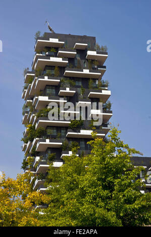 Milan - New buildings constructed in the district of Garibaldi Station, near Isola district, Bosco Verticale - Vertical - Stock Photo