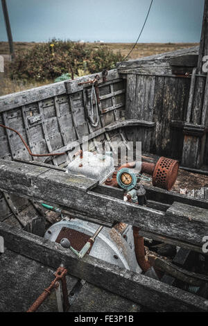 Old boat on abandoned junk yard stock photo royalty free for Outboard motor salvage yard