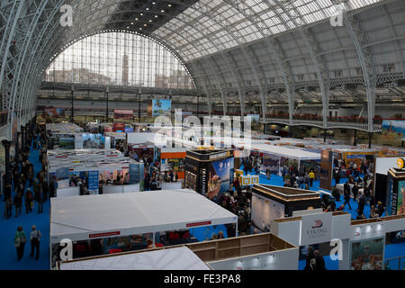 Olympia, London, UK. 4th February 2016. The Holiday and Travel show gets underway at Olympia in London,now in it's - Stock Photo