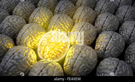 Brain of a genius - Stock Photo
