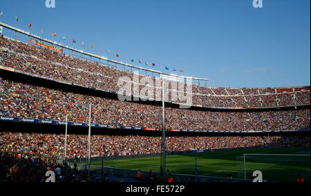 Camp nou stadium, in the city of Barcelona. Football Club Barcelona - Stock Photo