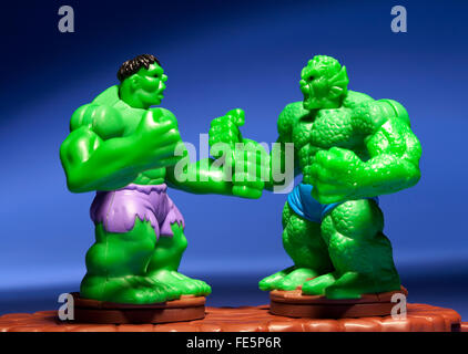 Incredible Hulk vs Abomination happy meal toy - Stock Photo
