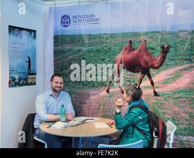 London, UK. 4th February, 2016. Paul Quezada-Neiman Alamy Live Visitor to the Destinations Holiday and Travel show - Stock Photo