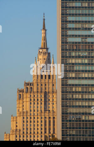 Kudrinskaya Square Building, one of Stalin's Seven Sisters, Moscow, Russia - Stock Photo