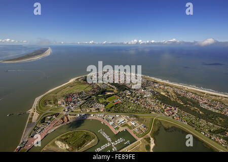 Place Norderney, West Island, aerial view, Norderney, North Sea, North Sea island, East Frisian Islands, Lower Saxony, - Stock Photo