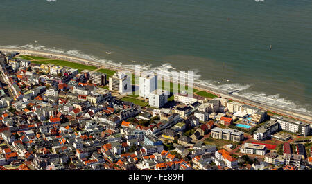 Aerial, aerial view, Norderney,  North Sea, North Sea island, East Frisian Islands, Lower Saxony, Germany,  , Europe, - Stock Photo