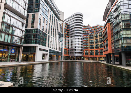 Paddington basin, London, England, UK - Stock Photo