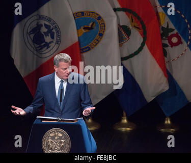 Bronx, United States. 04th Feb, 2016. Mayor Bill de Blasio presents his State of the City Address. New York City - Stock Photo