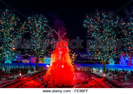 High Quality A Frozen Water Fountain, A Hudson Christmas (holiday Light Show At Hudson  Gardens)
