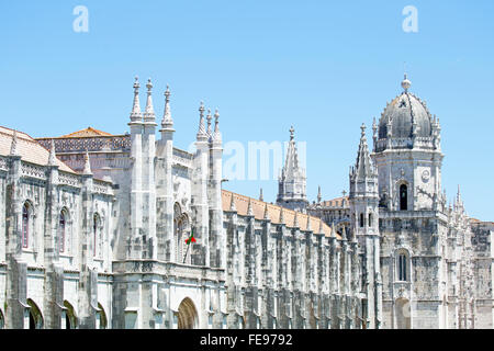 The Monastery of St. Jeronimos, is one of the most famous monuments in Portugal, built in the manueline style. - Stock Photo